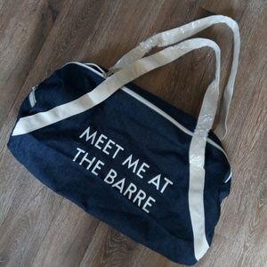 Handbags - Meet Me at the Barre small denim Gym bag